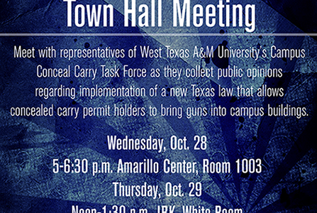 Town Hall Meetings Address Campus Concealed Carry