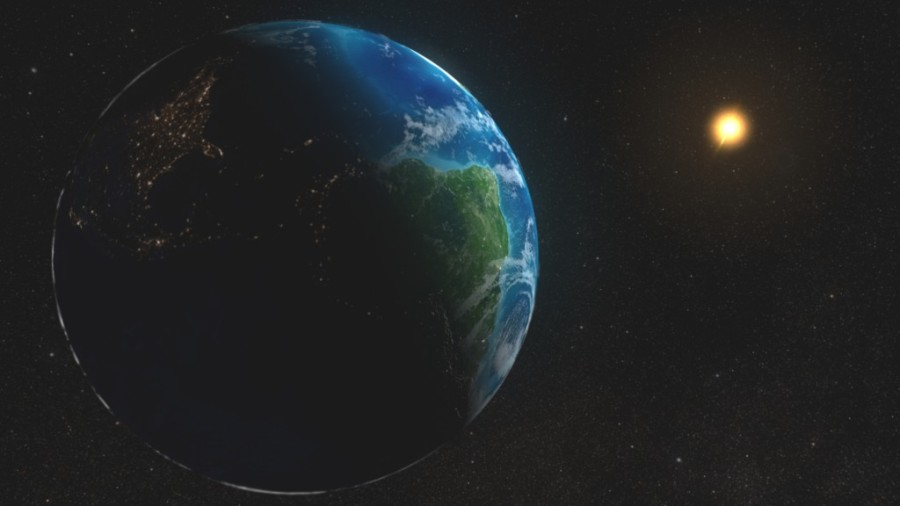 The Earth and The Sun. Courtesy photo NASA.