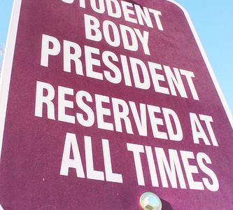 Student wins student body president's parking spot