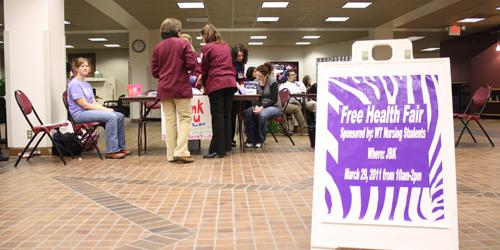WT students attend the health fair. Photo by Frankie Sanchez.