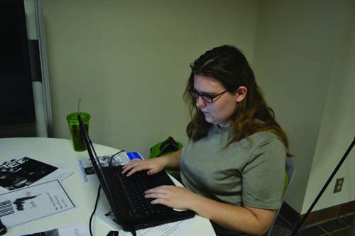 Jennifer Davis enjoying the furniture test. Photo by Alex Montoya.