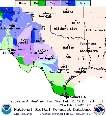 NOAA Weather Map for Amarillo, Texas