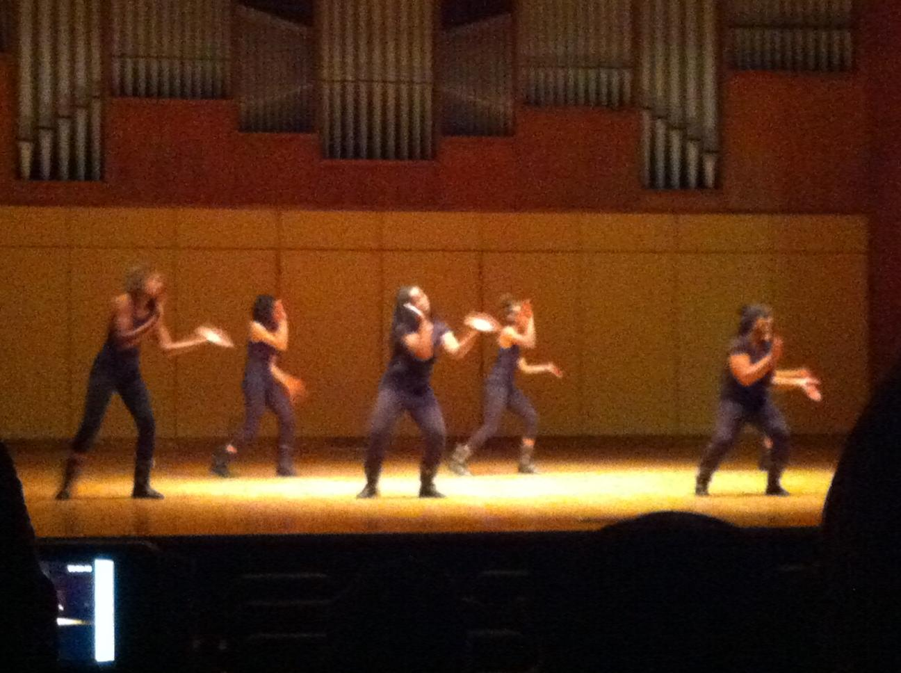 WTAMU Lady E.X. opens the step competition. Photo by Brittany Castillo.