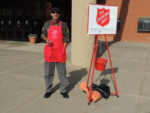 The Salvation Army bell-ringers will come back this holiday season. Photo by Hunter Fithen.