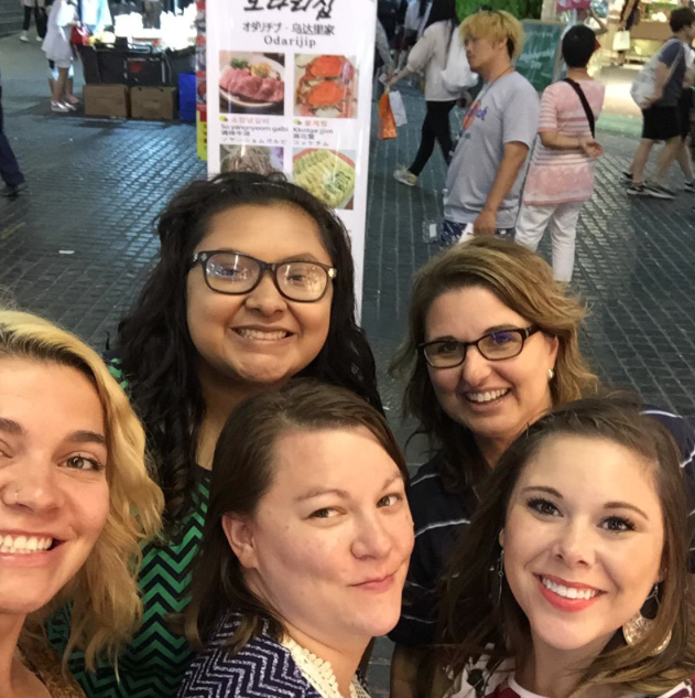 The author, back left, with some of her WTAsia2015 classmates in Seoul, South Korea.