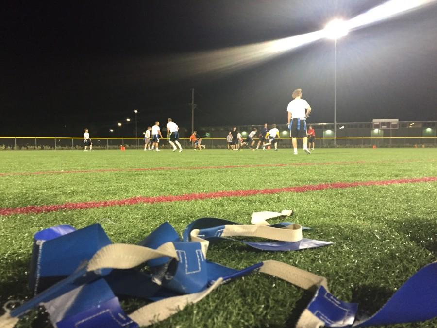 WT+students+played+flag+football+on+a+recent+evening.