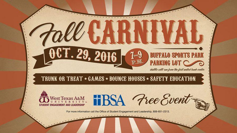 WTAMU Fall Carnival to Offer Safe Alternative to Halloween Festivities