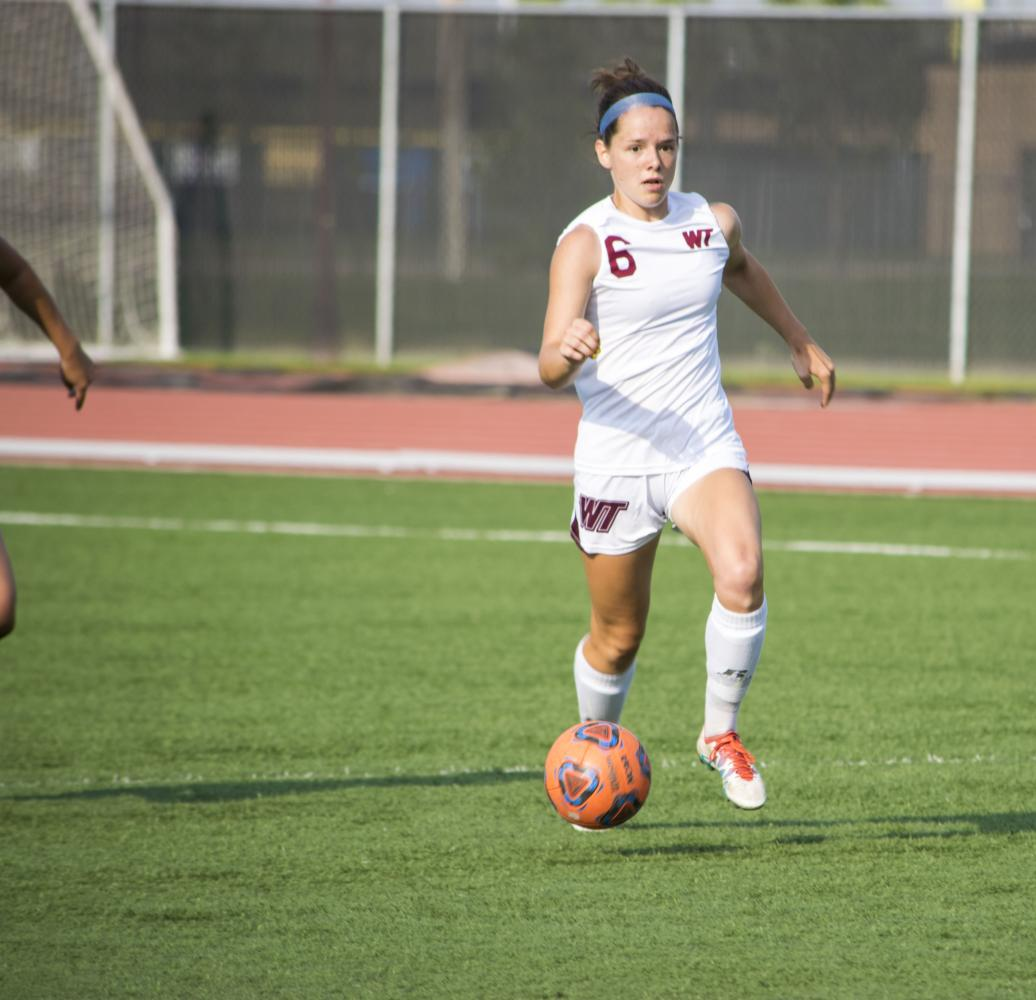 Senior+forward+Marlene+van+Mourik+dribbles+the+ball+past+a+New+Mexico+Highlands+defender+during+the+game+at+the+Pitch+on+Sept.+7