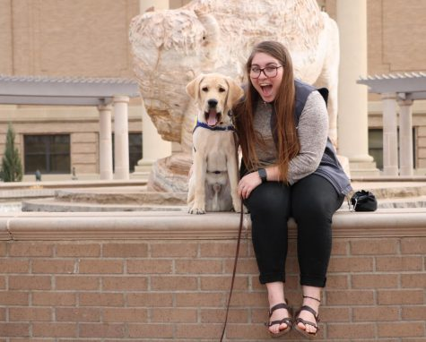 Agriculture Education student raises service puppies on campus