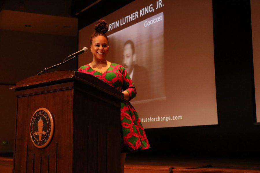 Artist+Yewande+Austin+speaks+at+WT%27s+Social+Justice+Conference