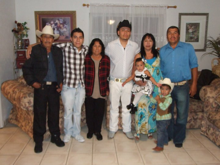Picture from 2010, the last time Salazar (second from the left) and his family were together.