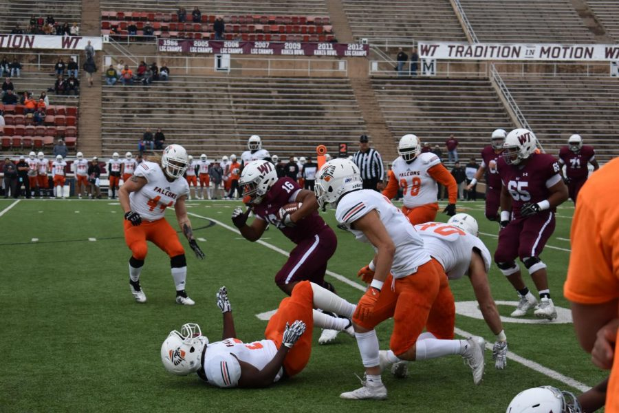 The+WTAMU+Buffs+had+a+victorious+homecoming+with+a+42-21+win+against+the+UT-+Permian+Basin+Falcons.+