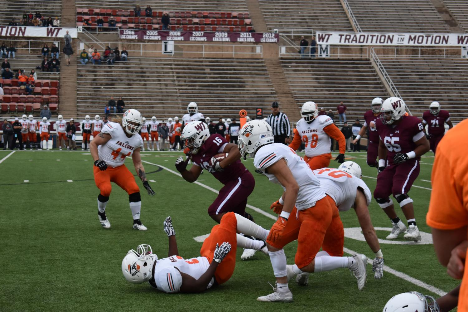 The WTAMU Buffs had a victorious homecoming with a 42-21 win against the UT- Permian Basin Falcons.