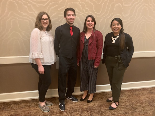 Photo provided by Dr. Nancy Garcia  WTAMU students and faculty members who traveled to Corpus Christi Texas for the TIPA conference from March 13-16.