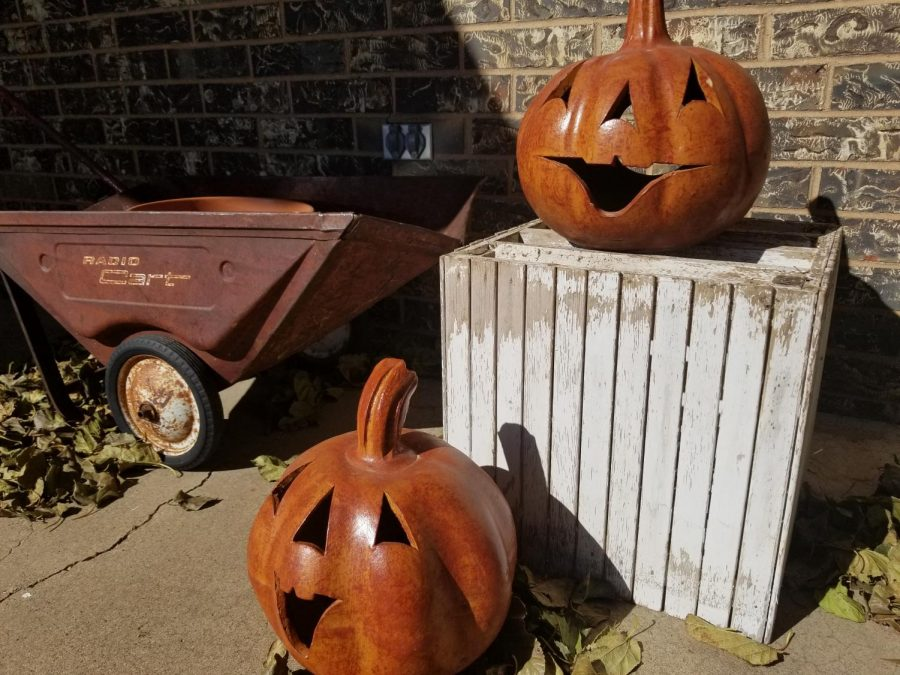 Jack'o lanterns replace pumpkins in light of freezing weather.