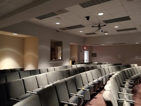 Room 220 of the Old Main, location of the film festival, Thursday, Oct. 17, 2019