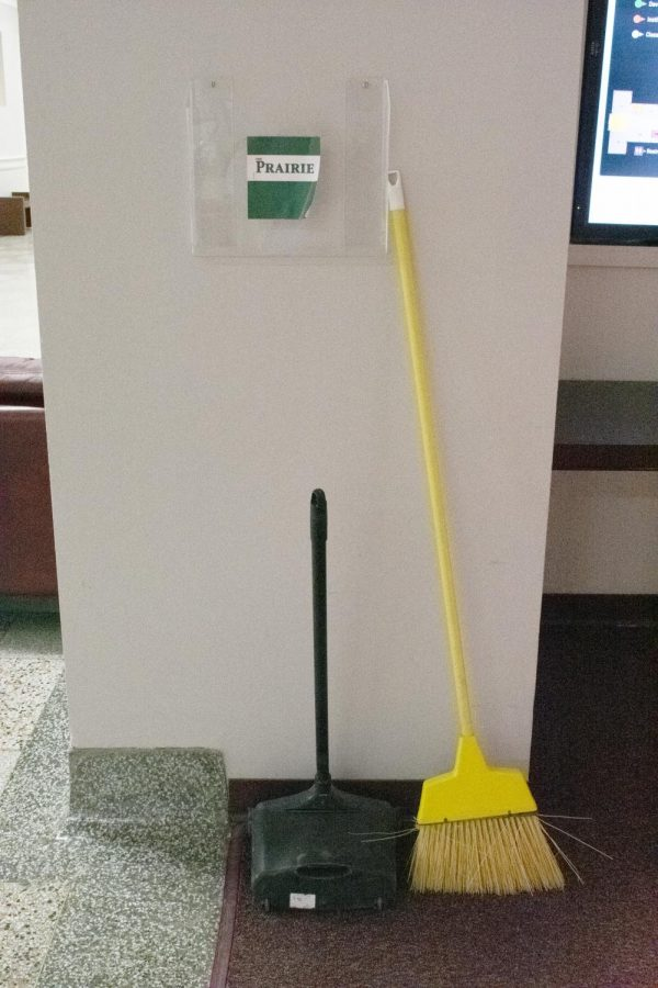 Cleaning supplies in Old Main