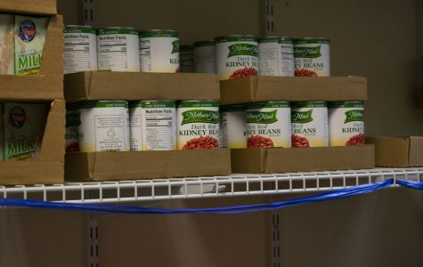 The food pantry located in the CSC is often restocked every Thursday.