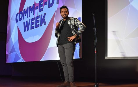 WTAMU alumnus and comedian Saul Rodriguez hosted the event and performed stand-up.