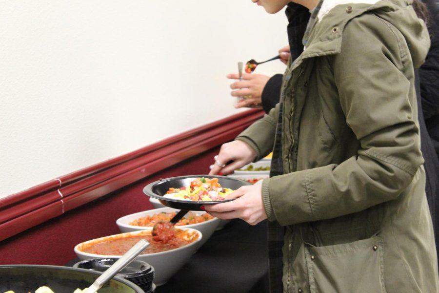 Students enjoyed southwest style burritos.