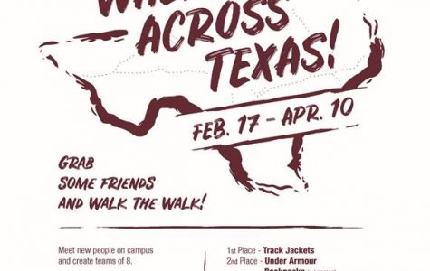 Walk Across Texas is an event held to encourage students to live a healthier life.