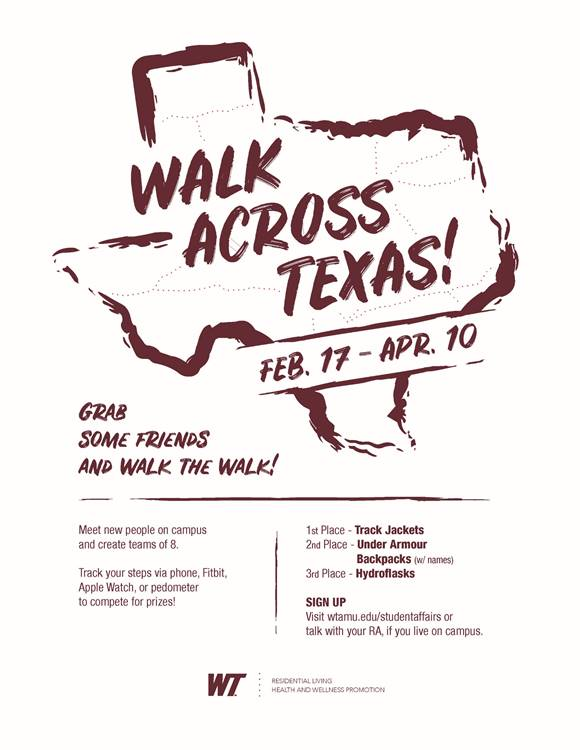 Walk+Across+Texas+is+an+event+held+to+encourage+students+to+live+a+healthier+life.