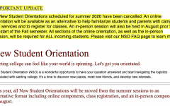 Changes coming for New Student Orientation