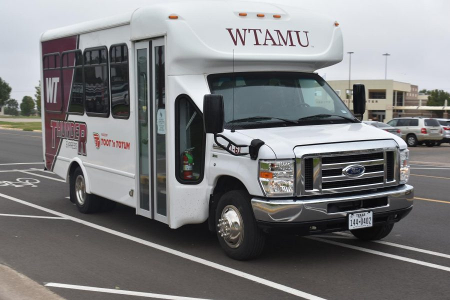 Shuttle+Services+was+almost+cut+from+WTAMU+this+year+due+to+budget+cuts+mandated+by+the+state+but+was+taken+over+by+Panhandle+Community+Services+and+is+here+to+stay.