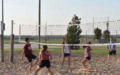 Intramural sand volleyball games are played on Wednesdays and Thursdays at the courts behind Buffalo Stadium.