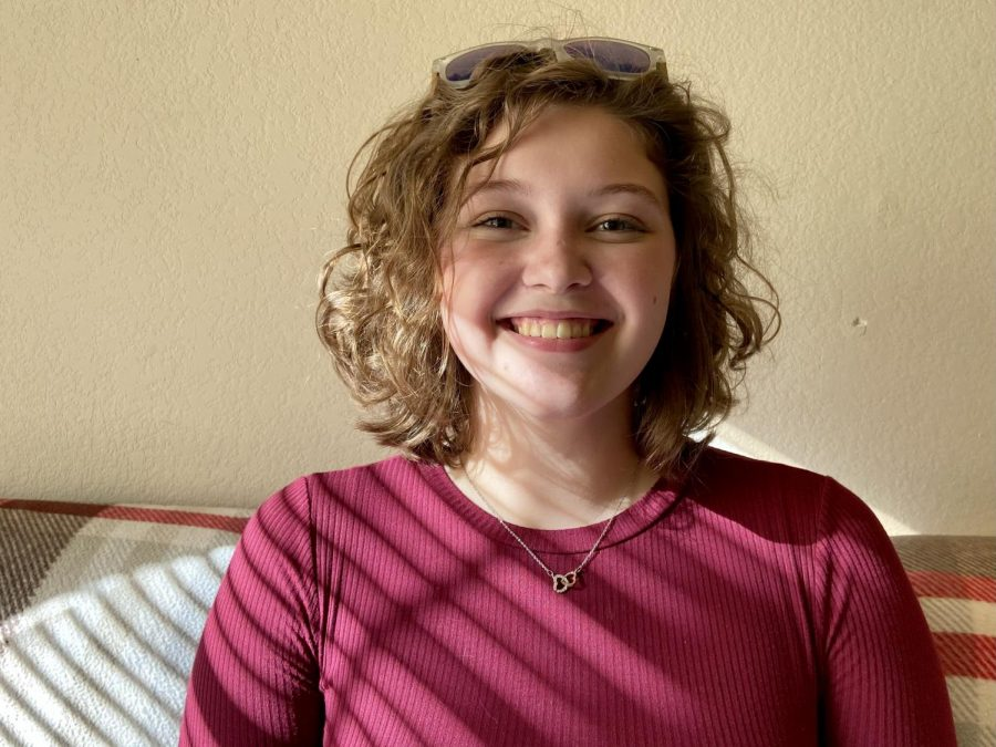 Holly Beamesderfer, a junior animal science major.
