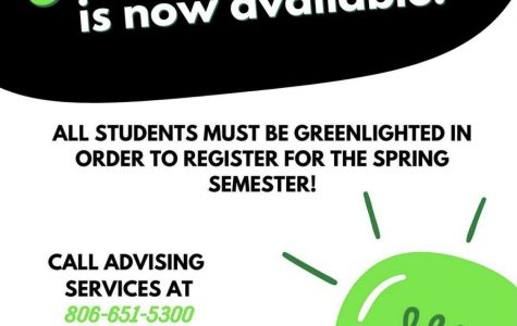 Advising services encourages students to get greenlighted as soon as possible.