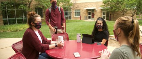 Students, masks and their political affiliations