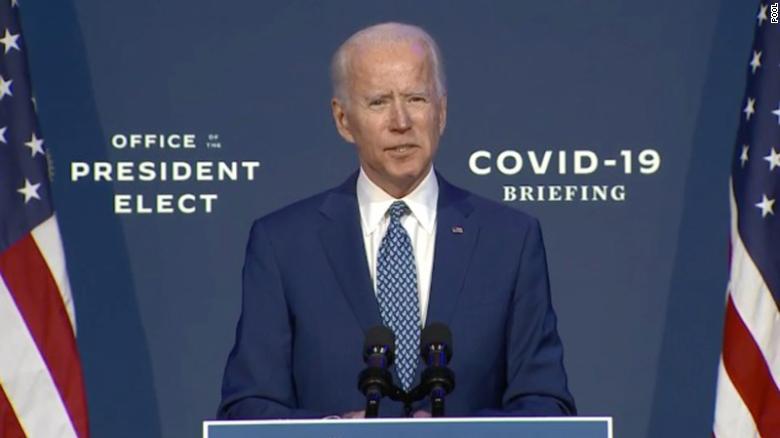 President-elect Joe Biden announced his COVID-19 taskforce Nov. 9, 2020 at his COVID-19 briefing.