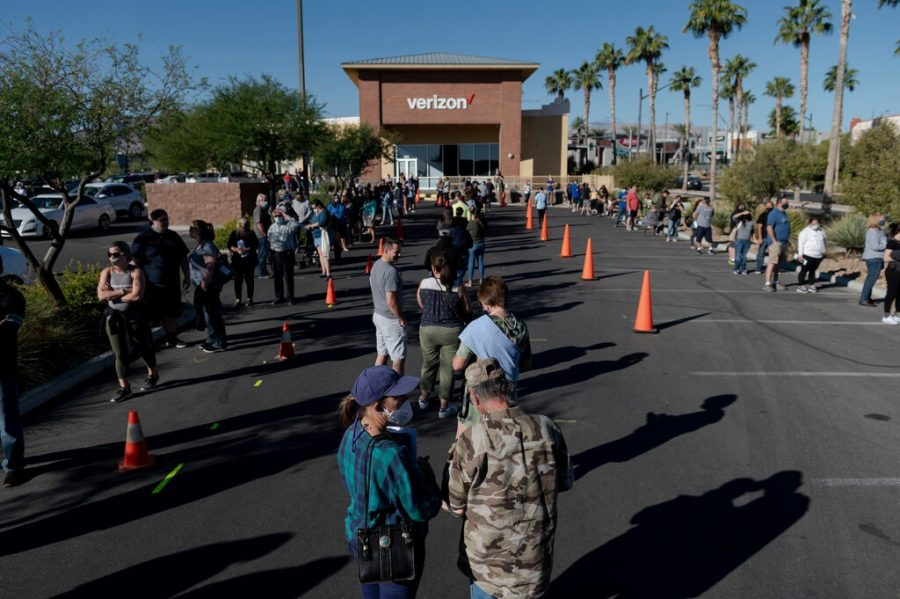 Lines filled with early voters can be found at polling locations across the country.