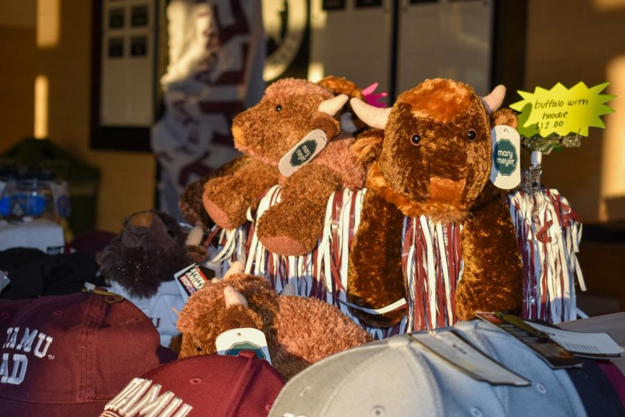 West Texas A&M proudly sports Buff merch in support of the Lady Buffalo's first home volleyball game of the semester.