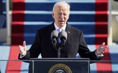 Biden giving his inaugural address. Courtesy of NBC News.
