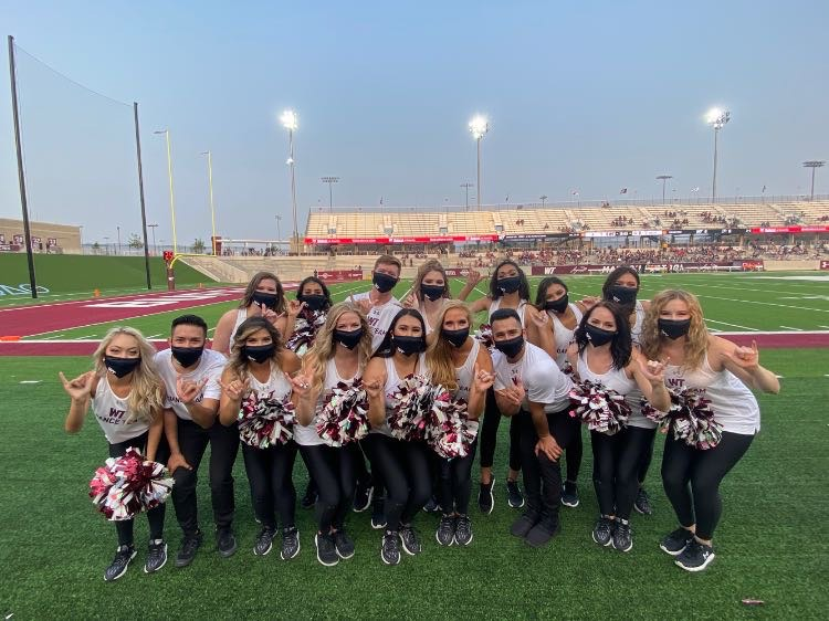 WTAMU dance team at a football game.