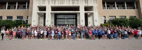First-year students of the Texas A&M Doctor of Veterinary Medicine (DVM) program in Canyon.Photo provided by WTAMU Communication and Marketing