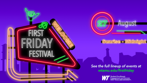FIrst Friday Festival will happen Aug. 27 at various locations in the WTAMU campus.