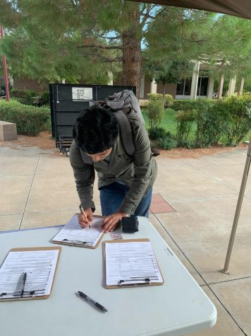 WTAMU Student Registering to vote in Canyon, TX.
