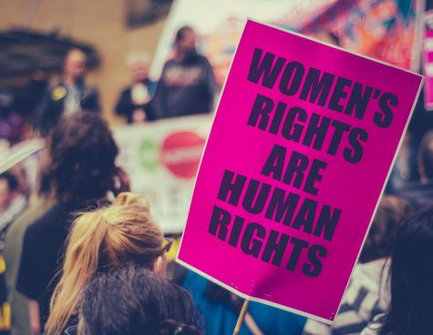 Womens rights placard at the Womens March in 2017.