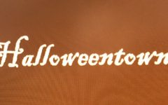 A graphic designed by Victoria Fatiregun of Halloweentown set within the background of colors representing the fall. (Canyon, TX/ Wednesday Oct. 19)