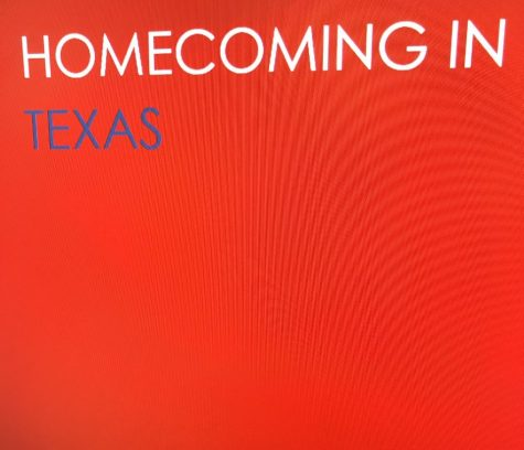 A graphic image created by Victoria Fatiregun showcasing Texas colors. (Canyon, TX, Tuesday Oct. 19 2021)
